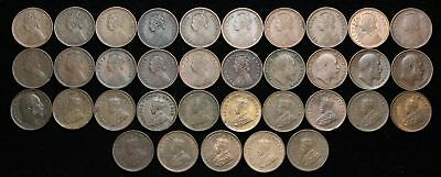 British India. Lot of 1/12 Anna from 1862-1936, Victoria, Edward VII, George V