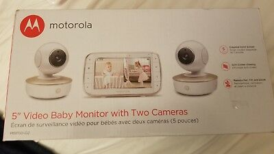 """Motorola 5"""" Portable Video Baby Monitor 2 Cameras MBP50G2 BRAND NEW IN BOX $199"""