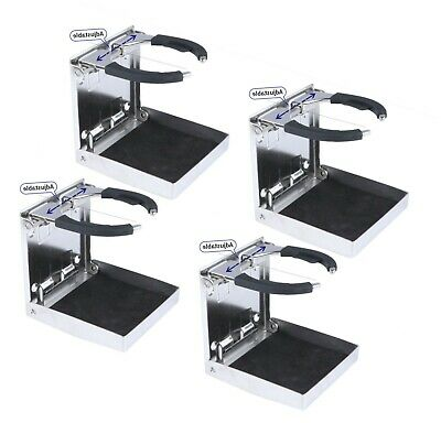 4X Car Drink Cup Holder Folding Stainless Steel Boat Cup Holder Truck RV/Camper