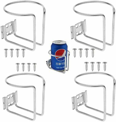 2X-Stainless Steel Car Drink Cup Holder Ring With Screw-Truck RV/Camper/Yacht