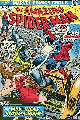 Amazing Spider-Man # 125 - 2Nd Appearance And Origin Of Man-Wolf - Cents Copy