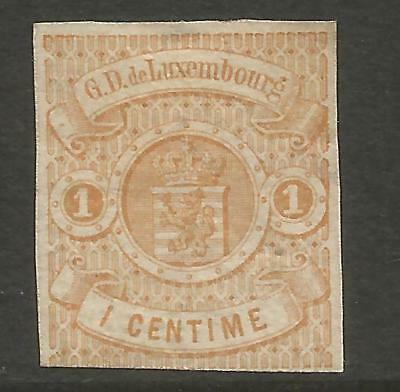 Luxembourg 1863 1C Light Brown Imperforate Mi 3, Mh*