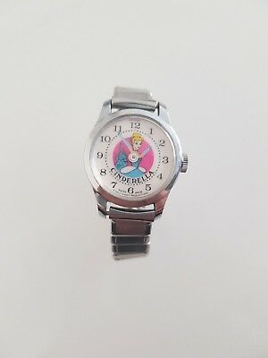 Vintage Walt Disney Cinderella Armbanduhr Handaufzug Swiss Made Ladies Watch