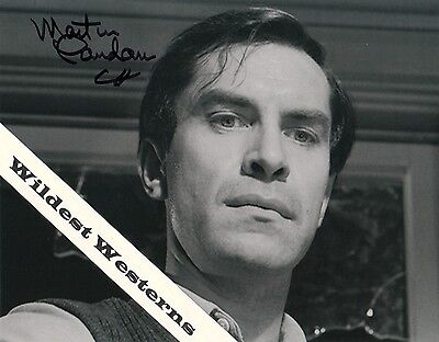 MARTIN LANDAU autograph signed photo in TWILIGHT ZONE Mission Impossible actor