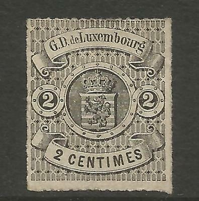 Luxembourg 1867  2C Black Roulette-Imperforate Mi 12, Mng (*)