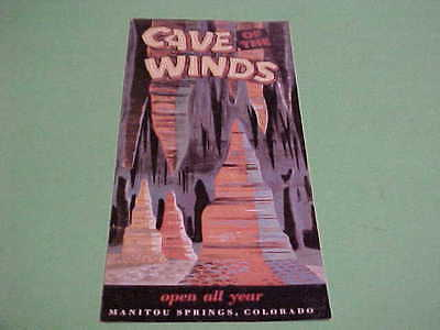 Vintage Brochure Map Cave Of The Winds Manitou Springs Colorado