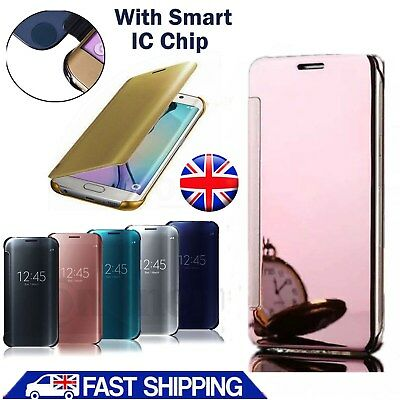 UK Luxury Flip Mirror Hard Smart Phone Case Cover For Samsung Galaxy S5 S6 S7 S8