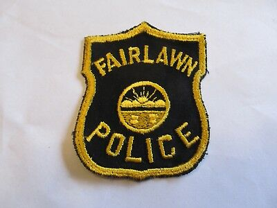 Ohio Fairlawn Police Patch Old Cheese Cloth