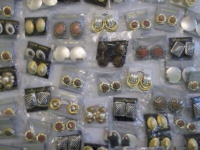 Joblot 57 Pairs Assorted Clip On Earrings. Brand New With Tags.
