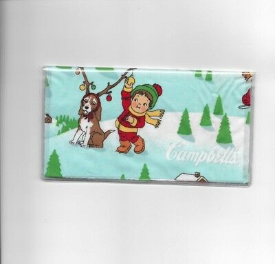 Campbells Soup Kids Checkbook Cover Christmas Dog Deer  Fabric