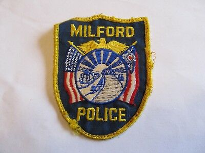 Ohio Milford Police Patch Old Cheese Cloth