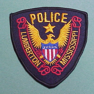 Lumberton  Mississippi  Ms  Police Patch  Nice!   Free Shipping!!!