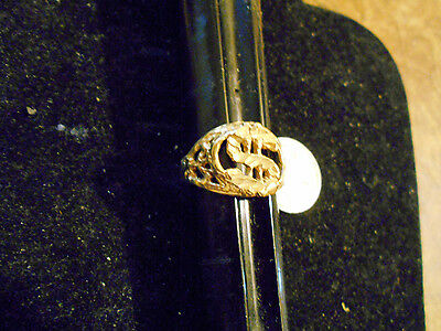 bling gold plated casino GAMING dollar sign fashion ring hip hop sz 11 JEWELRY