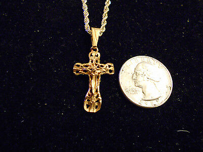 bling gold plated CATHOLIC cross crucifix PENDANT charm hip hop necklace JEWELRY
