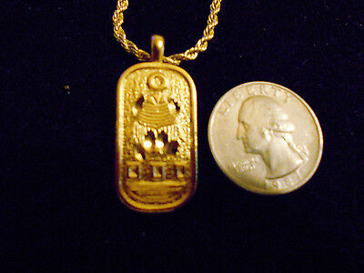 bling gold plated egyptian scarab bug myth fashion Charm Pendant chain Necklace