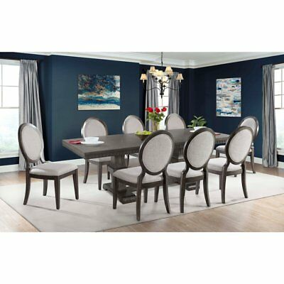 Picket House Furnishings Steele 9 Piece Extension Dining Table Set with Round