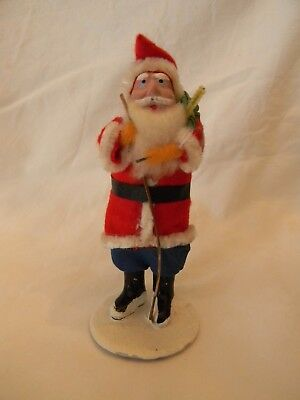 Antique Vintage Santa Claus - Felt & Fabric Clothes - Japan!