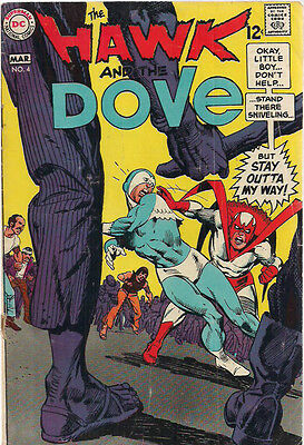 THE HAWK AND THE DOVE #4 (1969) DC Comics Gil Kane art  VG+
