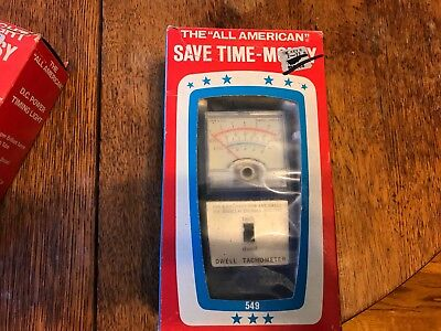 Vintage All American Model 549 Dwell Tachometer Tach Cam Meter