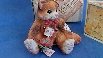 Calico Kittens - Cat With Pot Of Catnip (ornament)  - #144398 1995  - with box