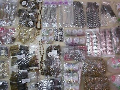 Clearance Joblot 456 Items Costume Jewellery & Hair Accessories. Necklaces Ect.