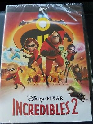 Incredibles 2 Dvd brand new