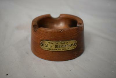 Wooden Ashtray Made From The Teak Of HMS Birmingham