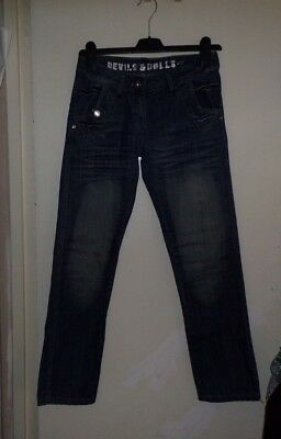 Devil & Dolls Ladies Girls Jeans Denim Trouser Size 8 S Vgc