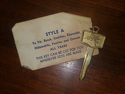 Vintage Gold Plated Mobil Oil Pegasus Auto Key Blanks, Style A