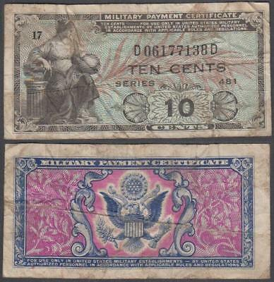 1951 series 481 Military Payment Certificate 10 Cents