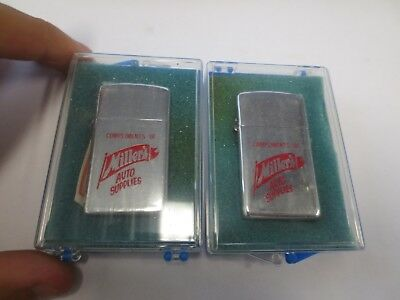 (2) Park Advertising Lighters MILLER'S AUTO SUPPLIES (NOS)