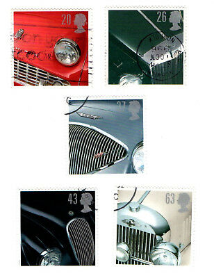 GB Stamps. SG195-1949.  1996 Classic Sports Cars. Multicoloured. Complete Set