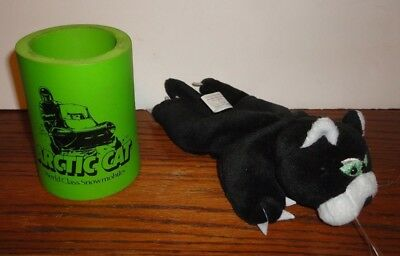Arctic Cat Snowmobile Collectable Stormie Bean Plush & Drink Can Coozie Koozie