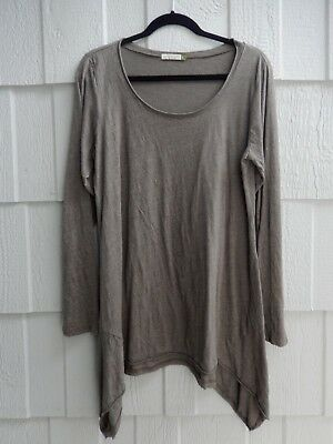 The Fabulous Chalet Et Ceci Usa Army Green Lagenlook Tee Tunic Sz L
