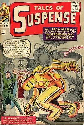 Tales Of Suspense # 41 - Cents Copy - 3Rd Appearance Of Iron Man - Dr.strange