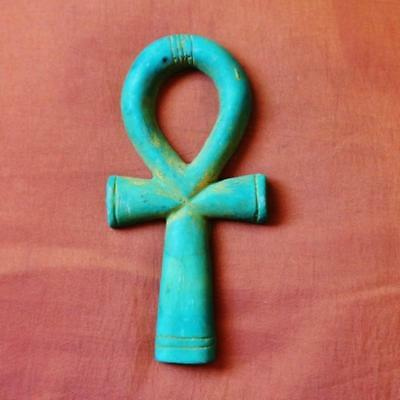 Very Cute Handmade Egyptian Ancient Cross ANKH wall plaque...Symbol Of Life