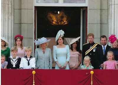 The British royal family on the balcony of Buckingham Palace Trooping