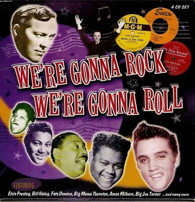 WE'RE GONNA ROCK WE'RE GONNA ROLL  4 CDs   ( 76  Tracks ) Various Artists  Mint