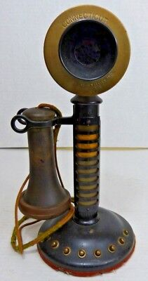 Rare Connecticut Telephone & Electric Company Candlestick Phone Multi 8 Line WOW