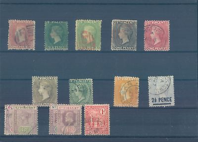 SAINT VINCENT early used stamps - rare ! (CV $465 EUR406)