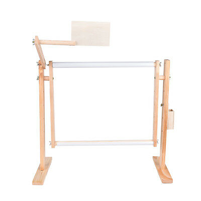 Needlework Stand Lap Table Wood Embroidery Hoop Frame Cross Stitch Sewing ToolFs
