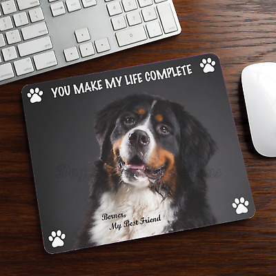 BERNESE MOUNTAIN MOUSE PAD Rubber Mat Dog Portrait Art Loss Memorial Gifts Stuff
