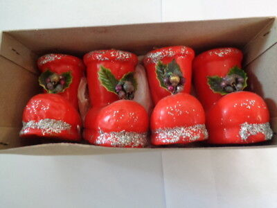Vintage Christmas Boots Candles Org Box Made in Japan