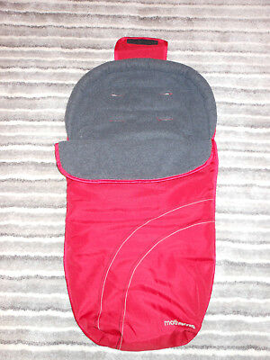 Mothercare Cosytoes/Footmuff. Red/Gray , waterproof and fleece lining. Used.
