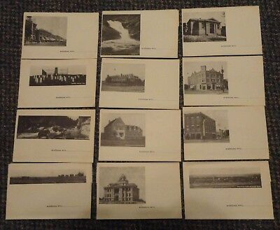 c1905 Sheridan Wyoming town pictorial writing paper - 12 different unused sheets
