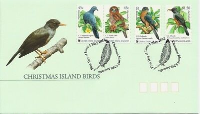 2002 Christmas Island - Birds of Christmas Island  First Day Cover FDI