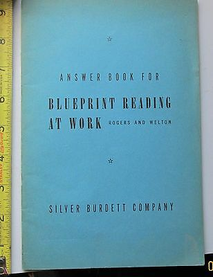 answer book for Blueprint Reading at Work - rogers and welton 1943