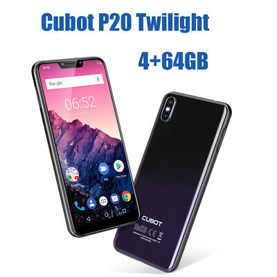 6.18'' Cubot P20 4+64GB 16+8MP 3*Kam Android8.0 8Core 4G Smartphone Handy Global