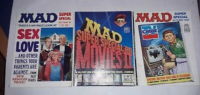 3 X MAD SUPER SPECIALS autumn 83, spring 84 & autumn 84 sex & love, movies,TV