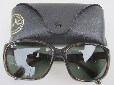 Vtg RAY-BAN HIGHSTREET Women's SUNGLASSES Shades RB4161 TORTOISE Brown ITALY